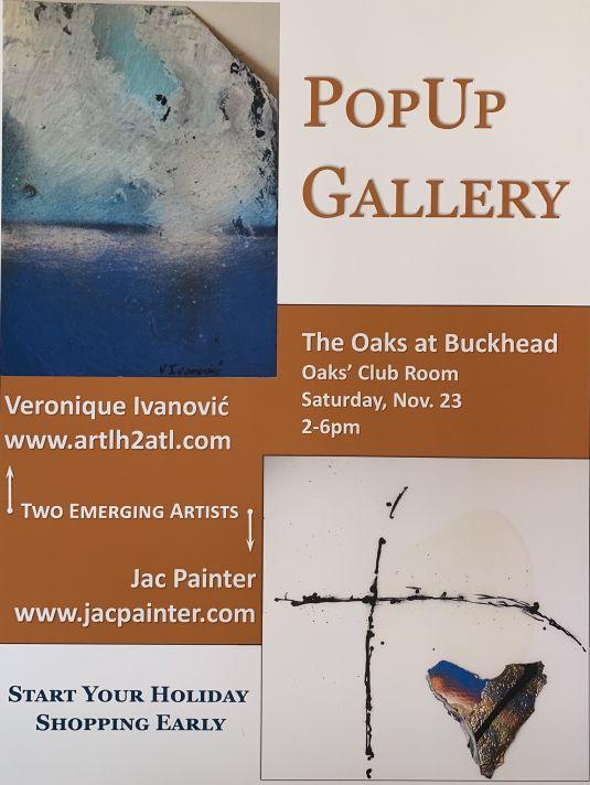 Pop up Gallery November 23 2019 at Oaks Buckhead ATLANTA