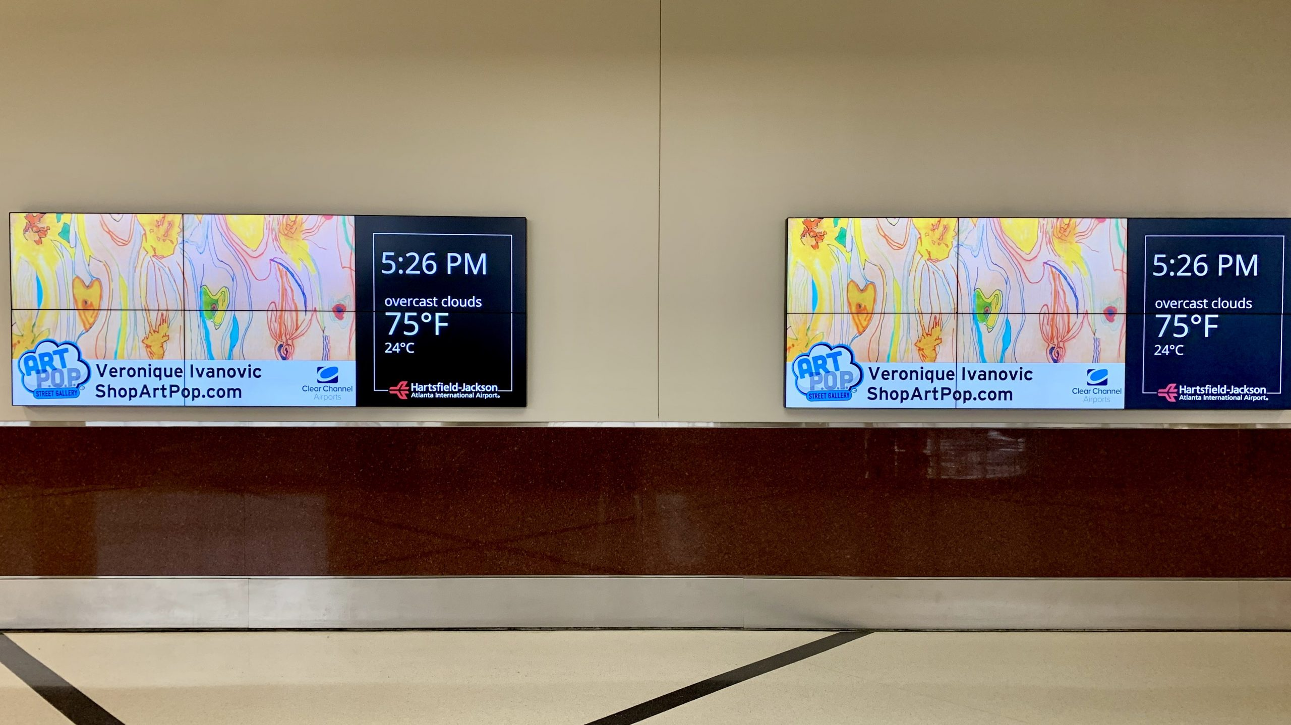 Digital Billboard Hartsfield-Jackson International Airport Atlanta