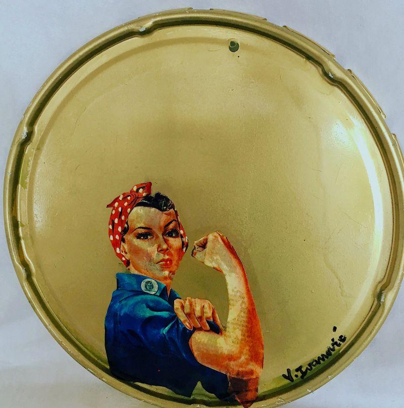 Woman in fight