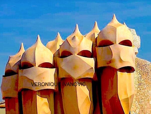ON MY URBAN WALKS SPAIN GAUDI 4, 5, 6, 7. La Pedrera Night Watchers!